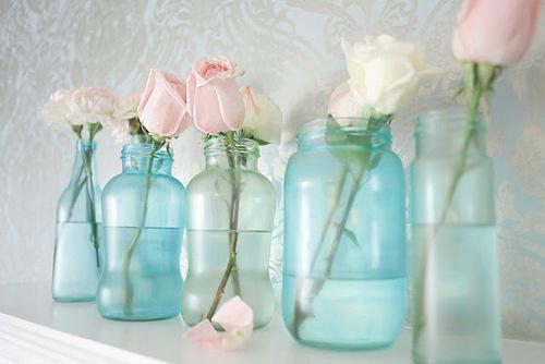 Botellas recicladas vidrio