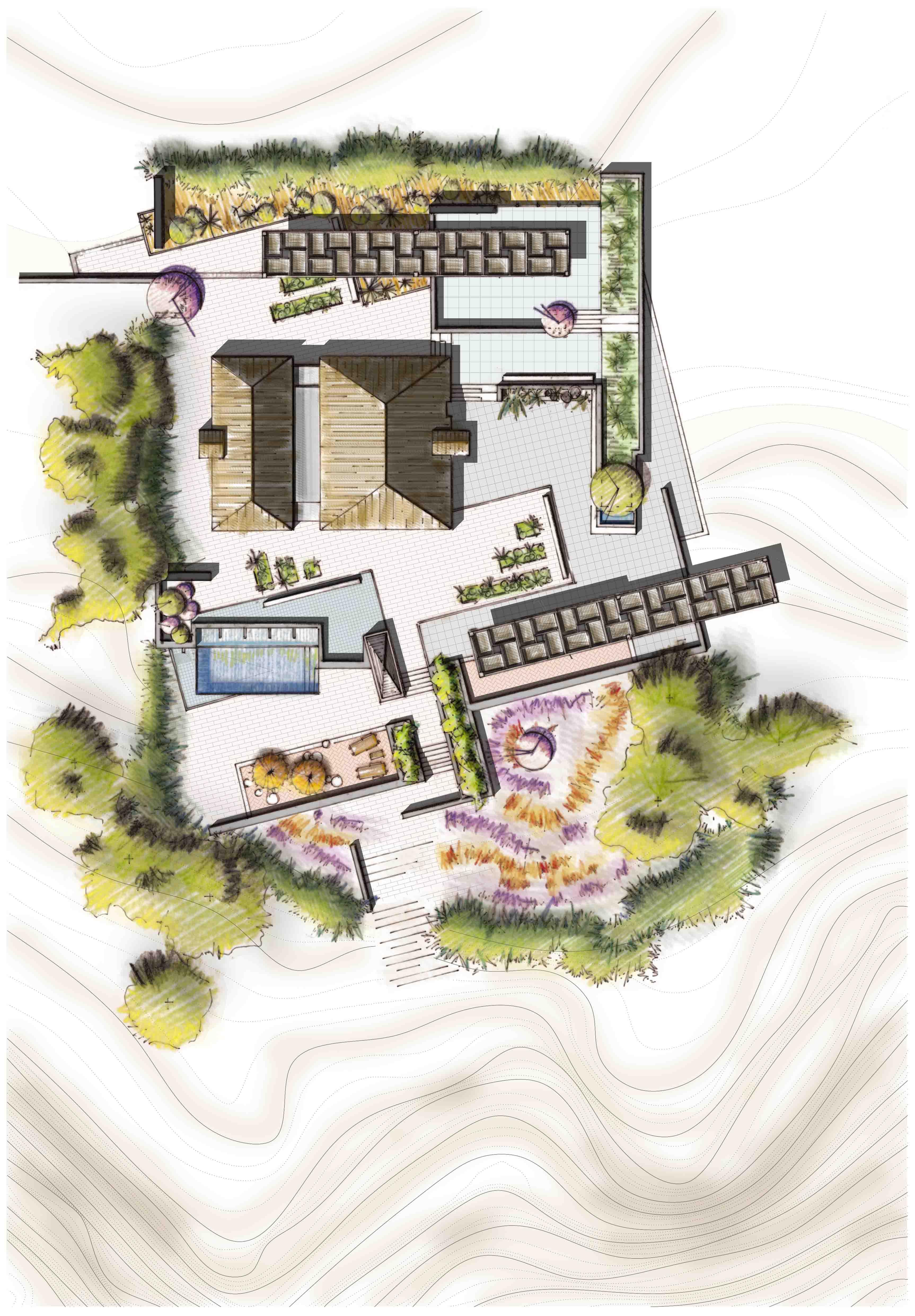 Diseño de jardines para casas Mediterránea