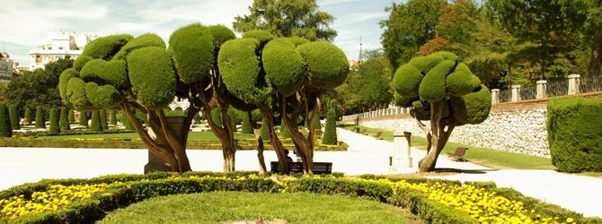 Jardinería Topiaria dentro del diseño de jardines franceses